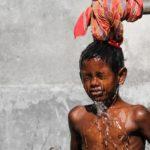 シャワー体温子供