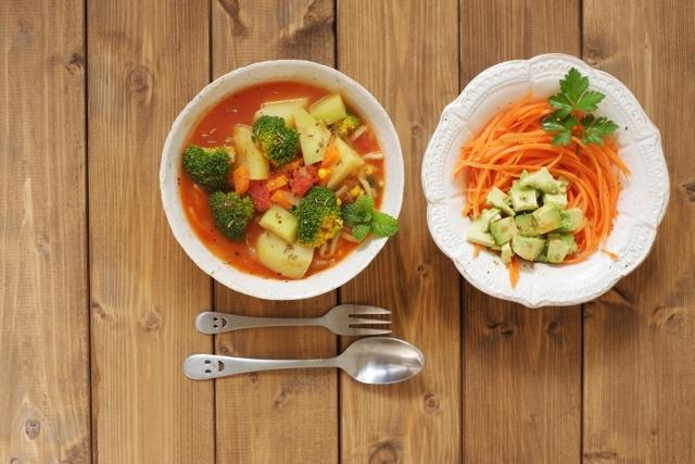 野菜スープブロッコリー水分補給